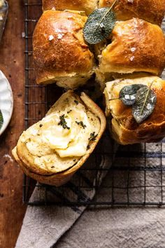 Brioche Rolls, Sage Butter, Smoothie, Half Baked Harvest, Artisan Bread, Pull Apart, Cooking Recipes, Bread Recipes, Cafe Recipes