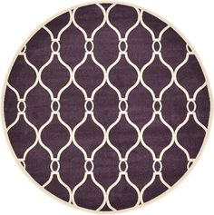 Trellis Purple Area Rug