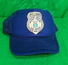 6890e54541e Special Agent Hat US Air Force OSI Snapback Trucker Mesh Cap   QualityCapsbyGeorge  Trucker