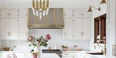 An Open-Plan Kitchen Ups The Modern in a Traditional Tudor-Style Home in Chicago - WSJ Kitchen Mantle, Kitchen Cabinets, Tudor Style Homes, Open Plan Kitchen, Traditional, How To Plan, Modern, Design, Home Decor