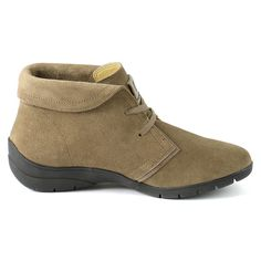 Women's Keisha by Bussola The Women's Keisha ankle boot takes a fresh spin with a stylish collar and lugged sole. Perfect for casual weekend outings and running errands.Full grain pig skin suede upper Leather lining Removable footbed Lace closure 100% Natural Rubber sole