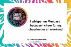 I'm the loudest and the proudest! Cheer Mom, Cheerleading, Life, Cheer