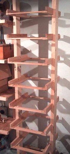 Building a basement storage solution