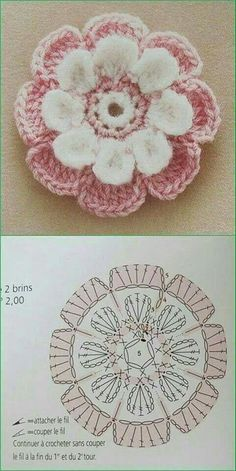 Transcendent Crochet a Solid Granny Square Ideas. Inconceivable Crochet a Solid Granny Square Ideas. Débardeurs Au Crochet, Crochet Puff Flower, Mode Crochet, Crochet Flower Tutorial, Crochet Motifs, Crochet Flower Patterns, Crochet Diagram, Crochet Gifts, Irish Crochet