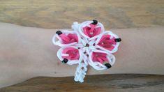Rainbow Loom- Queen's Flower Bracelet (Original Design)