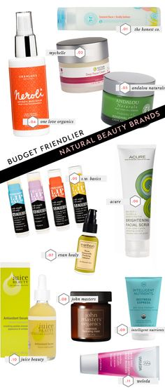 Budget Friendlier Natural Beauty Brands from @victoria / vmac+cheese