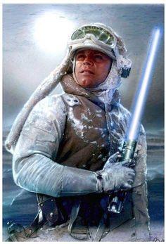 Star Wars: The Empire Strikes Back - Luke Skywalker Star Wars Rebels, Star Wars Rpg, Star Wars Jedi, Star Trek, Star Wars Fan Art, Star Wars Luke Skywalker, Star Wars Online, Starwars, Star Wars Episode Iv