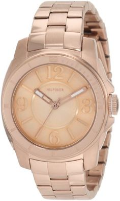 Tommy Hilfiger Women's 1781141 Sport Rose Gold Plated Stainless Steel Bracelet Watch Amazing Watches, Beautiful Watches, Sport Watches, Women's Watches, Wrist Watches, Watches Online, Rose Gold Watches, Coin Jewelry, Tommy Hilfiger Women