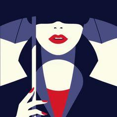 Malika Favre woman with umbrella art illustration print Art And Illustration, Portrait Illustration, Guache, Belle Photo, Female Art, Vector Art, Comic Art, Illustrators, Graphic Art