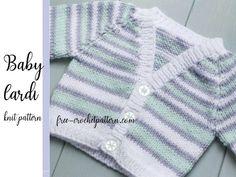 Baby Knitting Patterns Free Newborn, Free Baby Patterns, Baby Cardigan Knitting Pattern Free, Knitting For Kids, Knit Patterns, Diy Crochet Amigurumi, Free Crochet, Layette Pattern, Free Baby Stuff