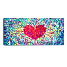 Put Your Hearts Up Abstract Canvas Wall Art Print