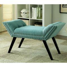 Furniture of America Dawne Modern Angled Bench