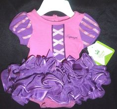 Disney Baby Girl's Rapunzel Princess Costume Tutu Onsie Dress Sz: Newborn (NWT)  #DisneyBaby #DressyEverydayHoliday