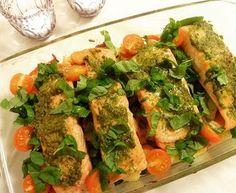 Laks i form med poteter & pesto ✿ Resteform ! Fresh Rolls, Tapas, Ethnic Recipes, Food, Essen, Meals, Yemek, Eten