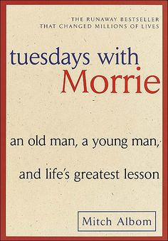 Tuesday's with Morrie by Mitch Albom. I musnt have really cried while reading this book but yes I did feel empathy. There is so much to learn from Morrie. It makes you smile, sad as well as thankful to what you got This Is A Book, I Love Books, Great Books, The Book, Books To Read, My Books, Amazing Books, Story Books, Music Books