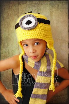 "Despicable Me ""Minion"" hat."