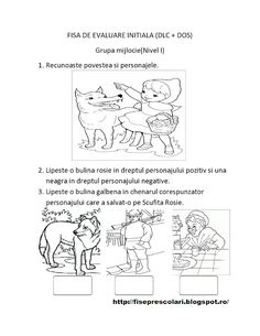 FISE de Evaluare Initiala grupa MIJLOCIE - DS - DLC - DOS | Fise de lucru - gradinita Preschool Worksheets, Kindergarten Activities, Toddler Activities, Preschool Activities, Math For Kids, Parenting, Maya, Album, Quizes