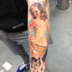 Sam Ford Pin-up Tattoo