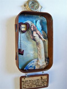 Mixed Media Altoid Tin Shadow Box Assemblage por shadesoflimonium