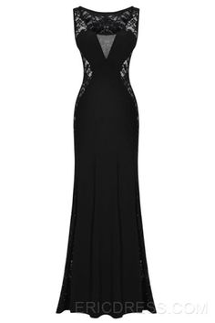 Sexy Black Lace Patchwork Maxi Dress Maximum Style