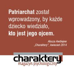 #Awdiejew #patriarchat #charaktery
