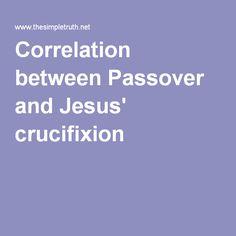 Correlation between Passover and Jesus' crucifixion