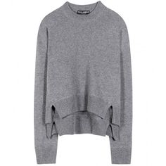 Dolce & Gabbana Cashmere Sweater ($1,350) ❤ liked on Polyvore featuring tops, sweaters, jumper, grey, pure cashmere sweaters, grey sweater, cashmere tops, wool cashmere sweater and cashmere jumpers