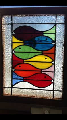My stained glass #StainedGlassFish