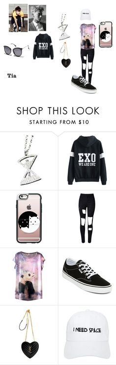 """EXO ocs"" by shes-kinda-hot on Polyvore featuring Casetify, WithChic, Vans, Yves Saint Laurent, Nasaseasons and MINKPINK"