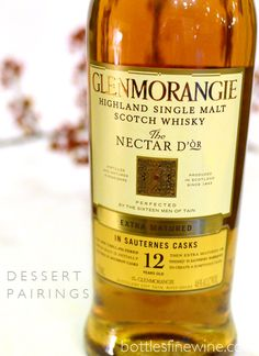 Glenmorangie Nectar D'Or Scotch Whiskey; great with Thanksgiving dessert