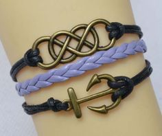 Infinity bracelet anchor bracelet charm by endlesslovegift on Etsy, $4.25