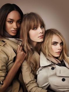Burberry Beauty 2012 Ad Campaign  Models: Cara Delevingne, Jourdan Dunn & Edie Campbell
