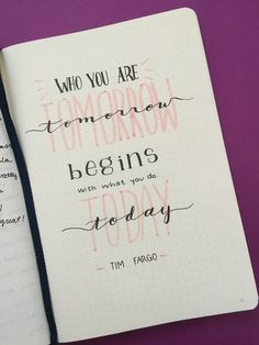 Bullet journal inspirational quote