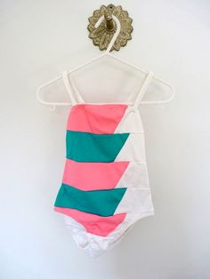 80s baby swimsuit, 12 months. From LazerBaby Vintage, $9.00