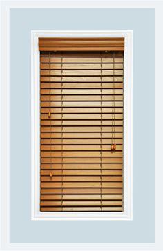 Real Wood Golden Oak Venetian Contemporary Window Blinds