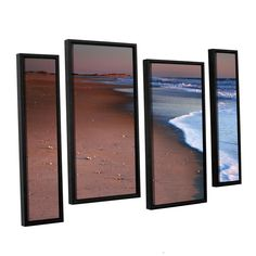 Alone Not Lonely by Steve Ainsworth 4 Piece Floater Framed Photographic Print on Canvas Staggered Set