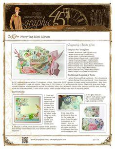 TAG ALBUM (images) GR45 BOTANICAL TEA  Ivory Tag Mini Album 1/5