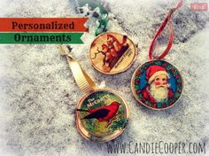 Candie Cooper created these personalized ornaments using craft attitude.