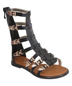 Loving this Black Tall Gladiator Sandal on #zulily! #zulilyfinds toddler shoe omg