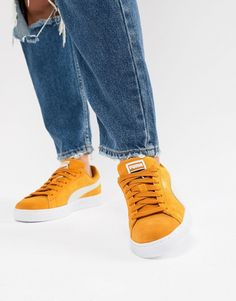 finest selection 63b6a aca31 Puma Suede Classic Mustard Yellow Sneakers