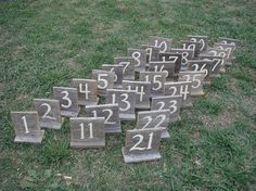 Wood Wedding Sign Table Numbers