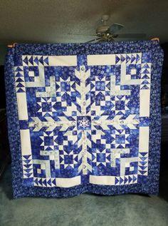 Two Color Quilts, Blue Quilts, Quilt Block Patterns, Quilt Blocks, Star Blocks, Sewing Patterns, Jellyroll Quilts, Patchwork Quilting, Patchwork Ideas