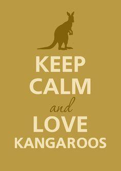 Keep calm and love kangaroos