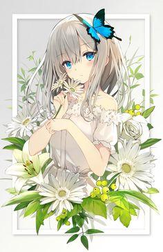 "anime girl, original art by ""sutorora Anime Girl Cute, Beautiful Anime Girl, Anime Art Girl, Anime Girls, Kawaii Neko Girl, Loli Kawaii, Chibi Girl, Anime Chibi, Manga Anime"