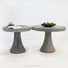 Teak Warehouse: California, have a ton of concrete tables and good prices