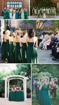 Les demoiselles d'honneur en vert Green Wedding, Wedding Colors, Our Wedding, Wedding Bridesmaids, Bridesmaid Dresses, Wedding Dresses, Wedding Details, Marriage, Wedding Inspiration