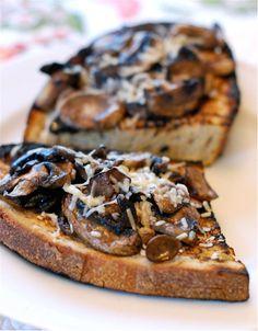 Mushroom Parmesan Melts | Mmmm great idea