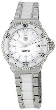#ceramicwatches #diamondwatch #diamondwatchesforwomen #whiteceramicwatch TAG Heuer Women's WAH1213.BA0861 Formula 1 Diamond-Accented Stainless Steel Watch Check https://www.carrywatches.com