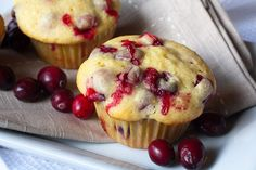 lemon cranberry muffins For Thanksgiving morning