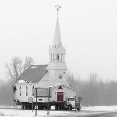How does one transport a church? With a little divine intervention.